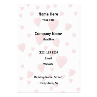 Red Pattern of Love Hearts. Pack Of Chubby Business Cards