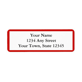 Red Personalized Envelope Return Address Labels