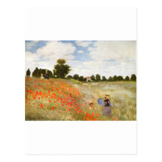 Red Poppies Blooming - Claude Monet Postcard