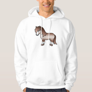 Red Roan Cartoon Shetland Pony Hoody