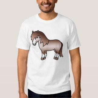 Red Roan Cartoon Shetland Pony Tshirts