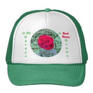 Red Rose Grows in My Garden Hat