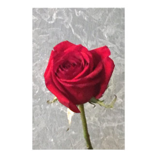 Red Rose Personalised Stationery