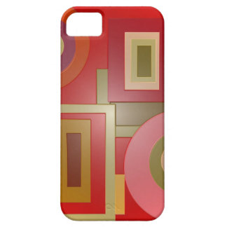 red shapes pop art barely there iPhone 5 case