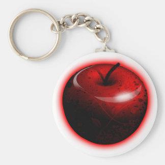 Red Shiny Apple -  Forbidden Fruit Basic Round Button Key Ring