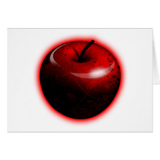 Red Shiny Apple -  Forbidden Fruit Greeting Card
