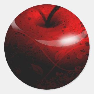 Red Shiny Apple -  Forbidden Fruit Round Sticker