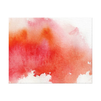 Red spot, watercolor abstract hand painted canvas print