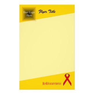 Red Standard Ribbon by Kenneth Yoncich 14 Cm X 21.5 Cm Flyer