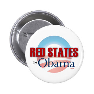 Red States for Obama 6 Cm Round Badge