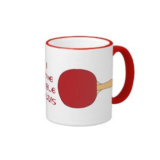 Red Table Tennis Racquet Ringer Mug
