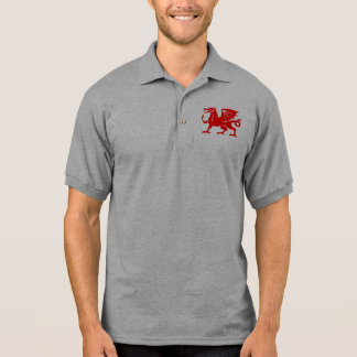 Red Welsh Dragon Polo Shirt