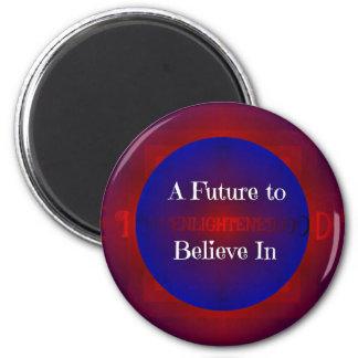 Red White Blue Bernie 'Future To Believe In' 6 Cm Round Magnet