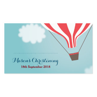 Red White Hot Air Balloon Favor Cards Pack Of Standard Business Cards