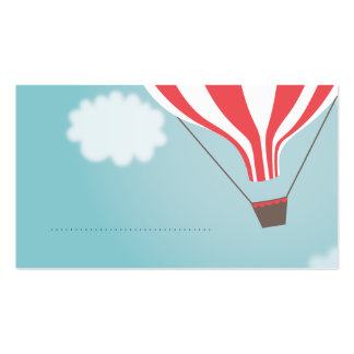 Red White Hot Air Balloon Name Place Cards Pack Of Standard Business Cards