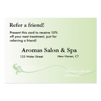 Referral Card with shaded green background Pack Of Chubby Business Cards