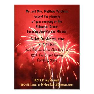 Rehearsal Dinner Fireworks 11 Cm X 14 Cm Invitation Card