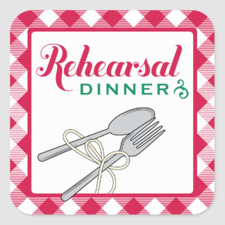 Rehearsal Dinner Stickers | Italian Design Theme
