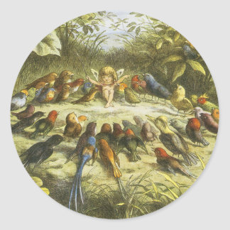 Rehearsal in Fairyland Sticker by Richard Doyle