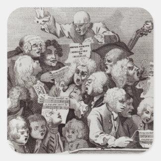 Rehearsal of the Oratorio of Judith, 1734 Square Sticker