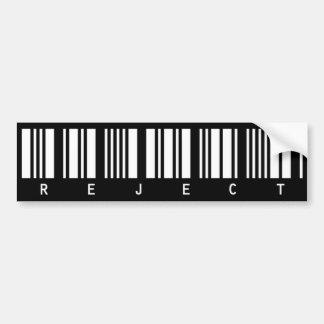 reject bumper sticker