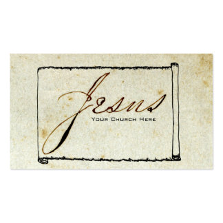 Religious Jesus Church Stained Paper Pack Of Standard Business Cards