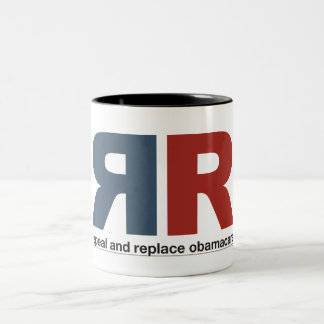 Repeal And Replace Obamacare Two-Tone Mug