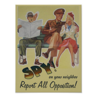 Report All Opposition Political Satire Poster
