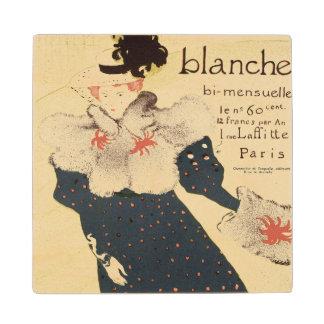 Reproduction of a poster advertising 'La Revue Bla Wood Coaster