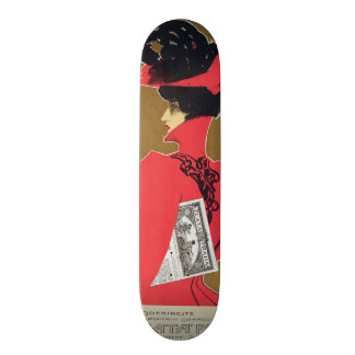 Reproduction of a poster advertising 'Zlata Praha' Skateboard Decks
