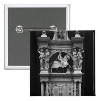 Reproduction of the tomb of Louis de Breze 15 Cm Square Badge