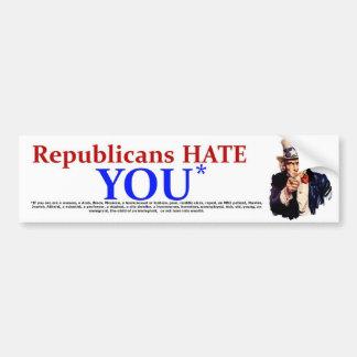 Republicans Hate Bumper Sticker