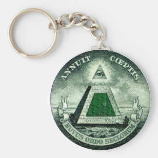 Resist the NEW WORLD ORDER Basic Round Button Key Ring