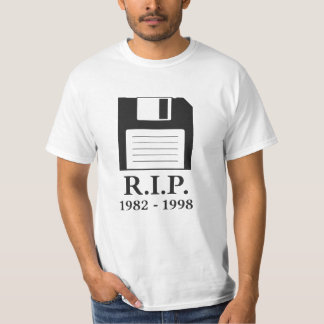 Rest in Peace RIP Floppy Disk Tshirt