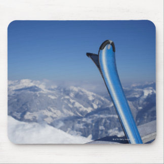Resting Skis Mouse Pad