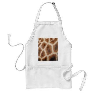 Reticulated Giraffe Pattern Wild Animal Print Gift Standard Apron