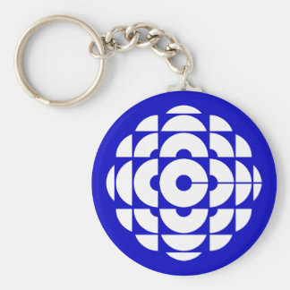 Retro 1986-1992 - White Basic Round Button Key Ring