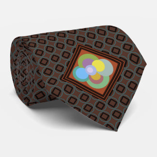 Retro 70s Groovy Dots Pattern Tie