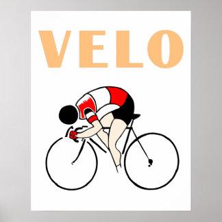 Retro art deco design cycling velo (2) poster