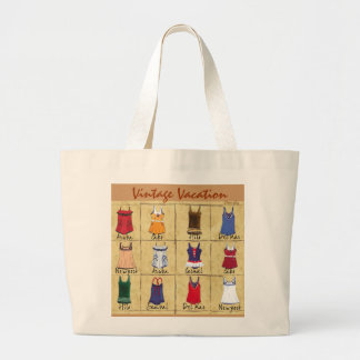 Retro Bathing Suits- Jumbo Tote Bag