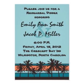 Retro Beach Rehersal Dinner Invitations