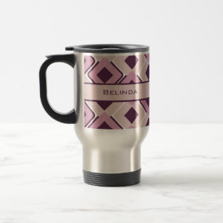 Retro Black Rose and Blossom Diamonds Stainless Steel Travel Mug