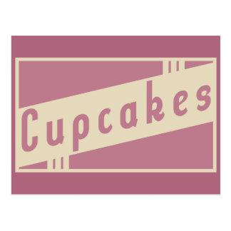 retro cupcakes postcard