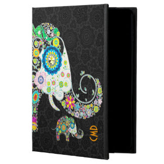 Retro Floral Elephant Design