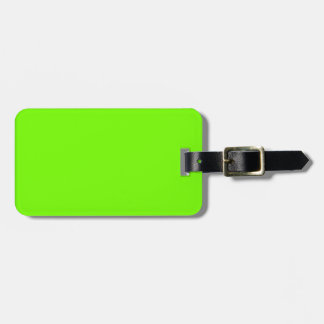 Retro Fluoro Lime-Green Collection Travel Bag Tag