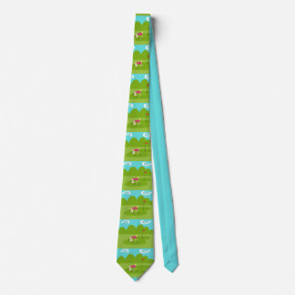 Retro Golfer Neck Tie