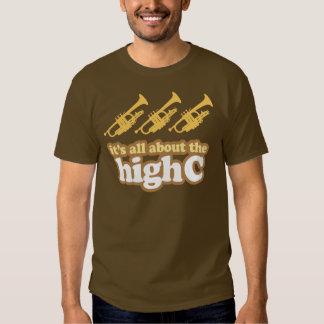 Retro High C Funny Trumpet Gift Tee Shirt