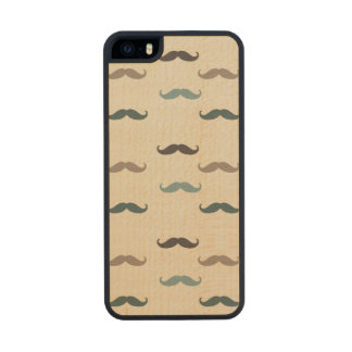 Retro Mustaches Wood iPhone SE/5/5s Case