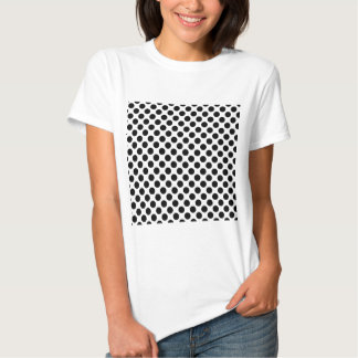 Retro Polkadots - Black & White T Shirt