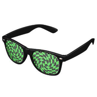 Retro punk black and neon green checkerboard